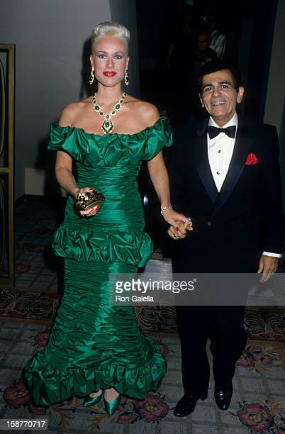 Radio Personality Casey Kasem and wife Jean Kasem attend 28th Annual International Broadcasting Awards on March 15 1988 at the Century Plaza Hotel in...
