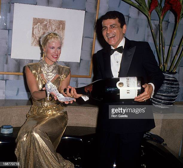 Radio Personality Casey Kasem and wife Jean Kasem attend Epicurean Gala Benefit on June 25 1988 at the Century Plaza Hotel in Century City California