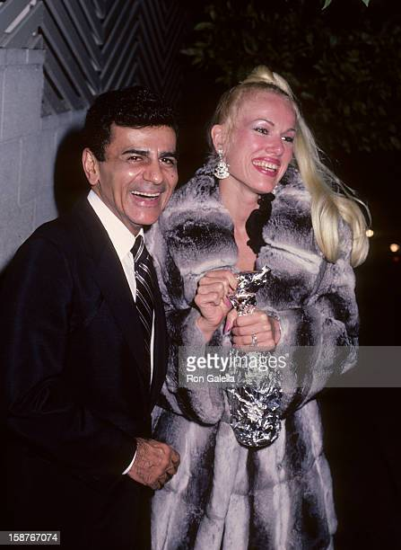 Radio Personality Casey Kasem and wife Jean Kasem sighted on October 24 1985 at Spago Restaurant in West Hollywood California