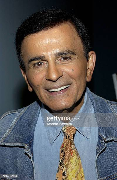 Radio personality Casey Kasem arrives at the Golden Dads Awards ceremony at the Peterson Automotive Museum on June 15 2005 in Los Angeles California