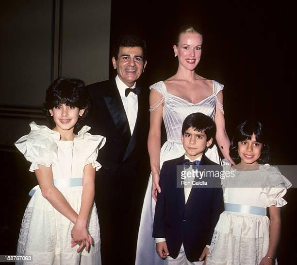 Radio Personality Casey Kasem wife Jean Kasem daughter Kerri Kasem son Michael Kasem and daughter Julie Kasem attend LebanonSyrian American Society...