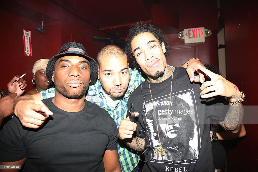 Radio personality Charlamagne Tha God, DJ Envy and rapper Gunplay attend S.O.B.'s on June 12, 2013 in New York City.