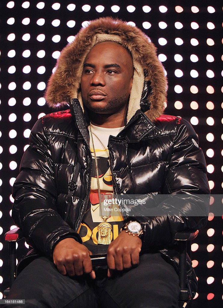 Radio personality Charlemagne guest judges on BET's 106th & Park show at 106 & Park Studio on March 20, 2013 in New York City.