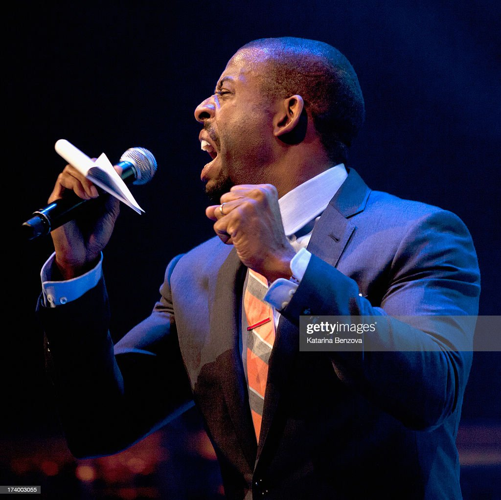 Radio personality Chuck Nice speaks during The Nelson Mandela Legacy Of Hope Foundation Event at Gotham Hall on July 18, 2013 in New York City.