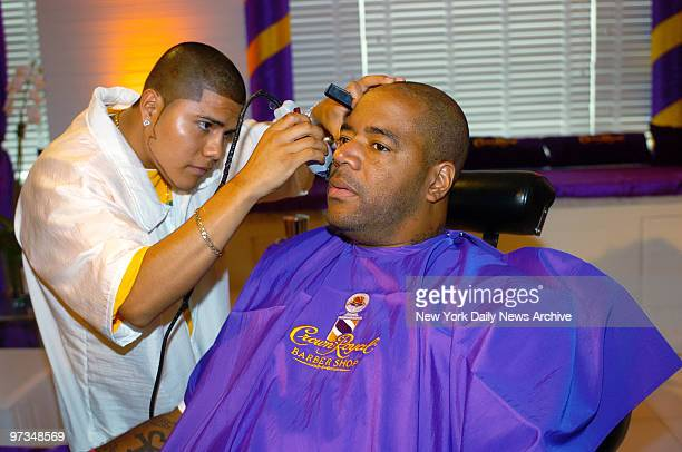Radio personality Ed Lover gets a trim during a visit to the MTV Video Music Awards Style Villa at the Sagamore Hotel in Miami Beach Fla The upcoming...