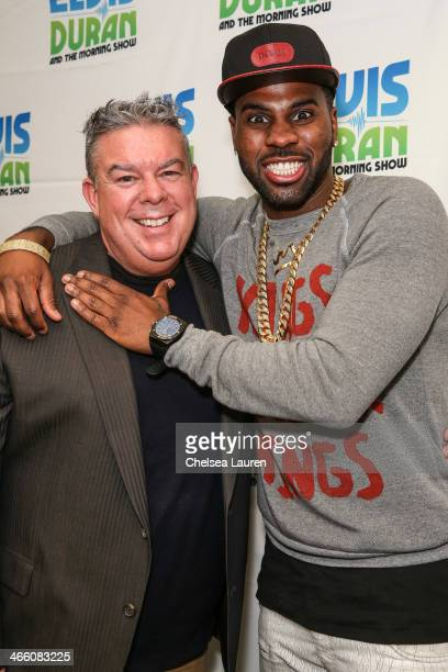 Radio personality Elvis Druan and singer Jason Derulo visit the Elvis Duran Z100 Morning Show at Z100 Studio on January 31 2014 in New York City