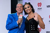 Radio personality Elvis Duran and singer/songwriter Demi Lovato attend the 2015 iHeartRadio Music Festival at MGM Grand Garden Arena on September 18...