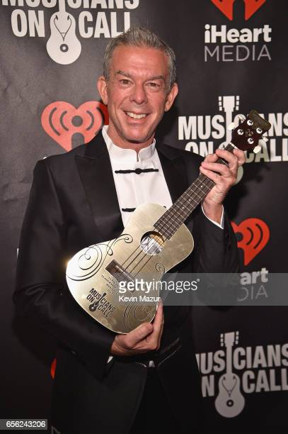 Radio personality Elvis Duran poses at A Night To Celebrate Elvis Duran presented by Musicians On Call at The Edison Ballroom on March 21 2017 in New...