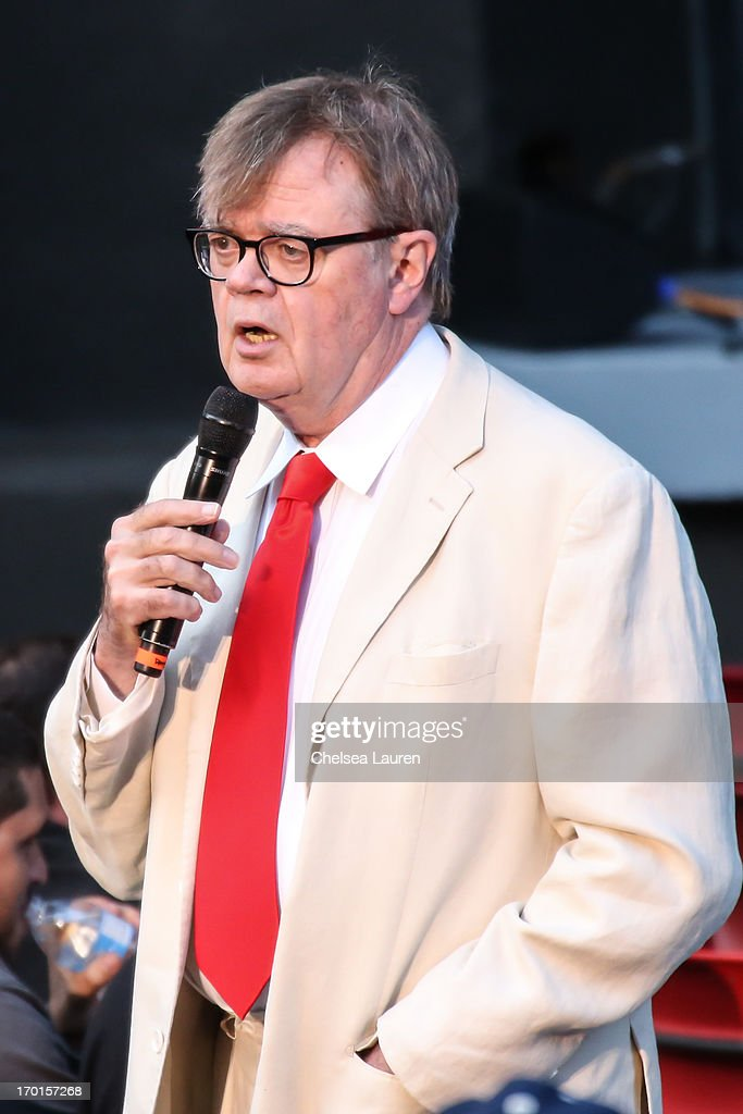 Radio personality <a gi-track='captionPersonalityLinkClicked' href=/galleries/search?phrase=Garrison+Keillor&family=editorial&specificpeople=594099 ng-click='$event.stopPropagation()'>Garrison Keillor</a> performs during A Prairie Home Companion taping at The Greek Theatre on June 7, 2013 in Los Angeles, California.