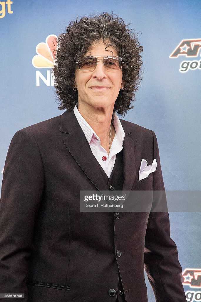 Radio personality Howard Stern attends the 'America's Got Talent' preshow red carpet arrivals at Radio City Music Hall on August 11 2015 in New York...