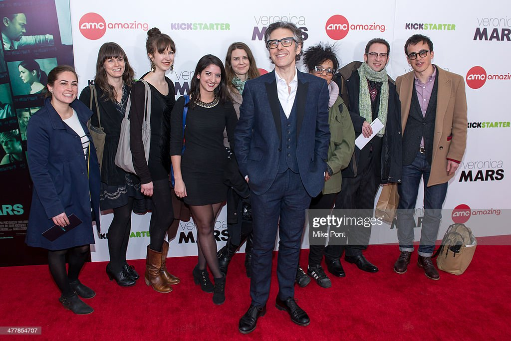 Radio personality <a gi-track='captionPersonalityLinkClicked' href=/galleries/search?phrase=Ira+Glass&family=editorial&specificpeople=3061815 ng-click='$event.stopPropagation()'>Ira Glass</a> (C) attends the 'Veronica Mars' screening at AMC Loews Lincoln Square on March 10, 2014 in New York City.