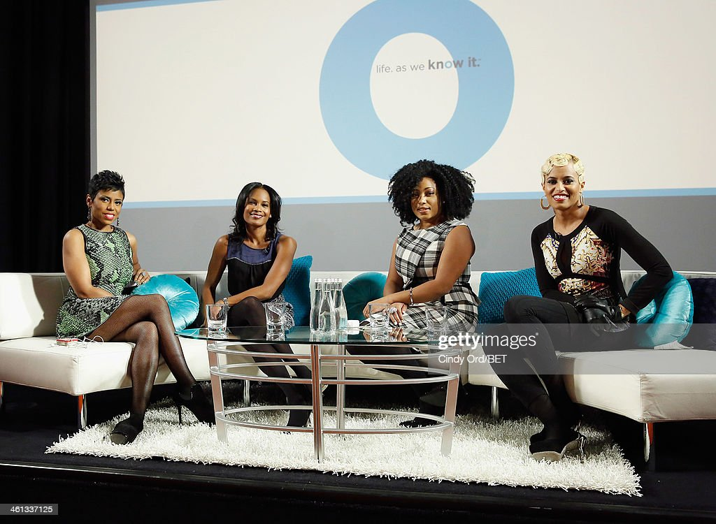 TV/ radio personality Jacque Reid, actress Robinne Lee, TV personality/ author Demetria Lucas and TV personality Dr.Rachael Ross attend as BET Networks partners with OraQuick for 'Life As We Know It', a special panel series about relationships and an advance screening of the program 'Being Mary Jane' at The Crosby Hotel on January 7, 2014 in New York City.