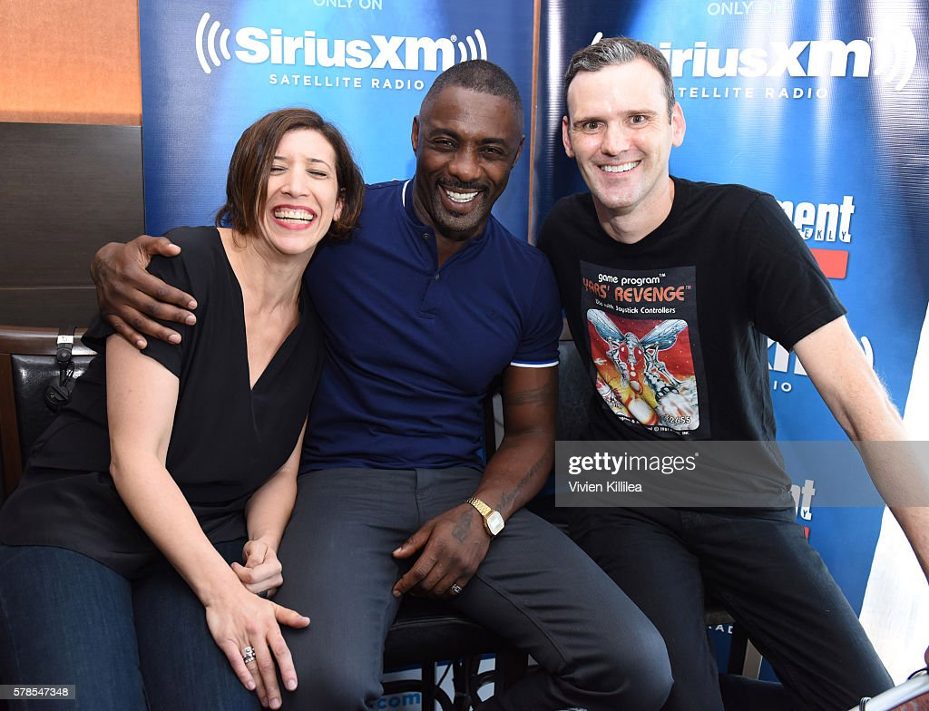 Radio personality Jessica Shaw, actor Idris Elba and radio personality Dalton Ross attend SiriusXM's Entertainment Weekly Radio Channel Broadcasts From Comic-Con 2016 at Hard Rock Hotel San Diego on July 21, 2016 in San Diego, California.