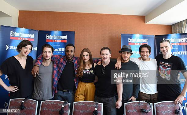 Radio personality Jessica Shaw actors Dylan Sprayberry and Khylin Rhambo actress Holland Roden executive producer Jeff Davis actors Cody Christian...