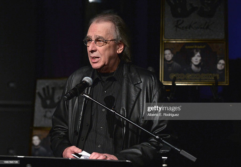 Radio personality Jim Ladd attends a ceremony inducting The Goo Goo Dolls into the Guitar Center RockWalk at Guitar Center on May 7, 2013 in Hollywood, California.