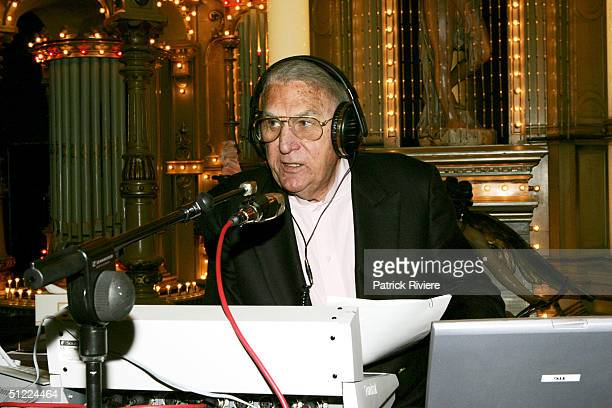 Radio Personality John Laws broadcasts live from Luna Park for his 69th Birthday August 9 2004 in Sydney Australia