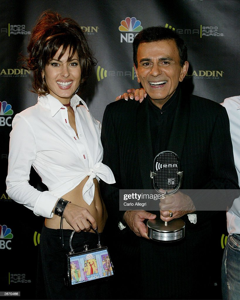 Radio Personality Kasey Casem (R) and his daughter Kerri backstage at The 2003 Radio Music Awards at the Aladdin Casino Resort October 27, 2003 in Las Vegas, Nevada.