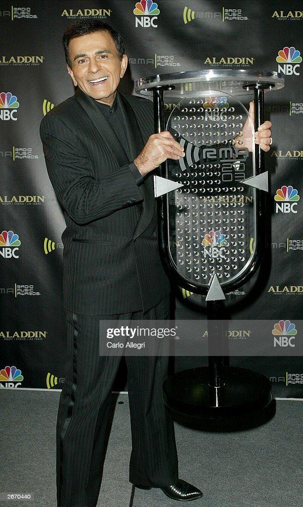 Radio Personality Kasey Casem backstage at The 2003 Radio Music Awards at the Aladdin Casino Resort October 27, 2003 in Las Vegas, Nevada.