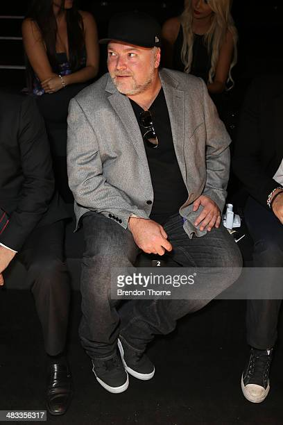 Radio personality Kyle Sandilands attends the Swim show during MercedesBenz Fashion Week Australia 2014 at Carriageworks on April 8 2014 in Sydney...