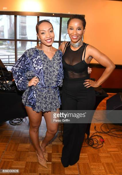Radio personality Maria More and singer Vivian Green at Upscale Magazine's Brunch Style featuring Vivian Green on August 20 2017 in Atlanta Georgia