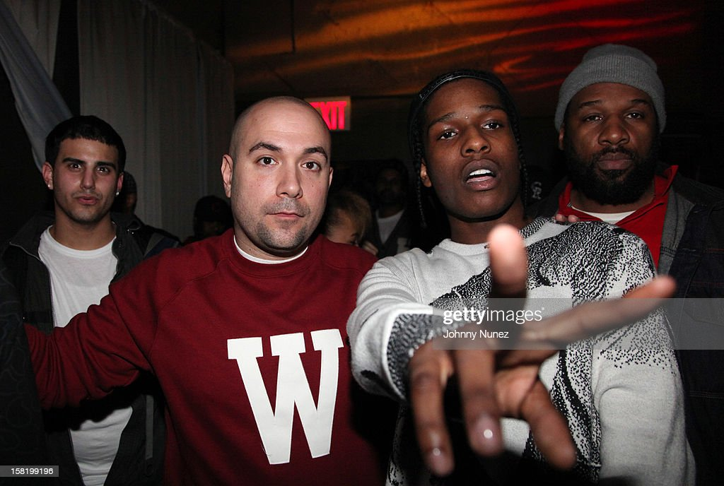 NY radio personality Peter Rosenberg and recording artist A$AP Rocky attend Big Boi's Album Release Party at S.O.B.'s on December 10, 2012 in New York City.