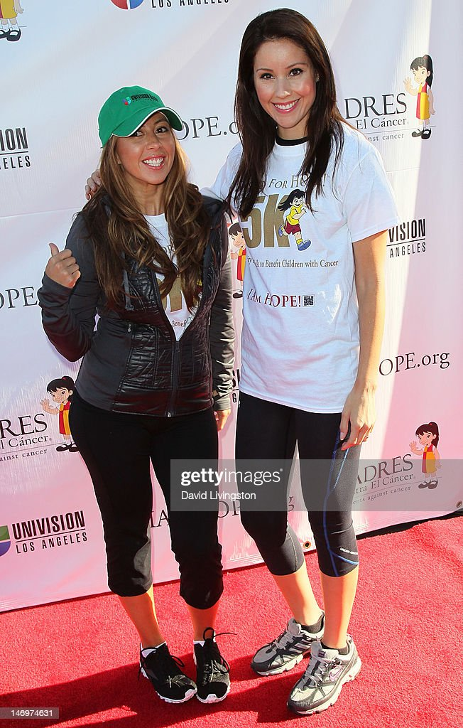 Radio personality Stephanie Himonidis aka 'Chiquibaby' (L) and TV reporter Anabelle Sedano attend Padres Contra El Cancer's 5th Annual Stand for HOPE! 5k Run/Walk at the Rose Bowl on June 24, 2012 in Pasadena, California.