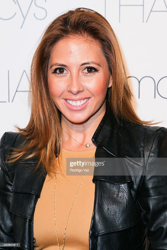 Radio personality Stephanie Himonidis arrives as Macy's honors Latin superstar Thalia at Sunset Tower on December 5, 2013 in West Hollywood, California.