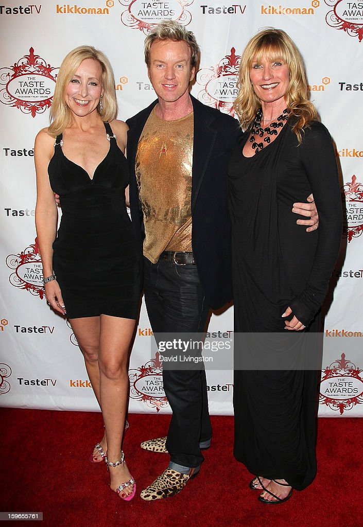 Radio personality Steve Valentine (C) and guests attend the 4th Annual Taste Awards at Vibiana on January 17, 2013 in Los Angeles, California.