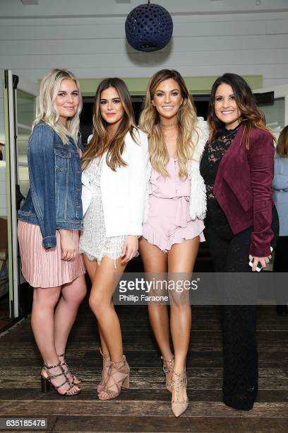 Radio personality Tanya Rad host Jojo Fletcher host Becca Tilley and radio personality Sisanie attend Ryan Seacrest's Purse Party at The Bungalow...