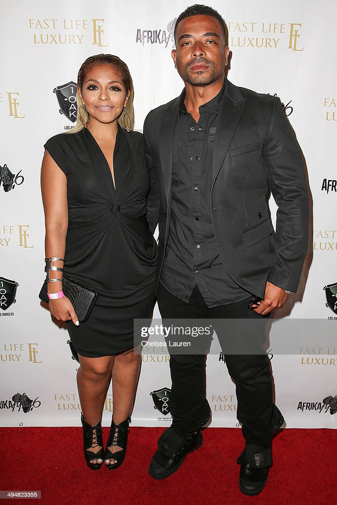 Radio personality Yesi Ortiz (L) and host Giovanni Watson arrive at the For Our Girls of Nigeria benefit concert hosted by singer/actor Tyrese Gibson at 1OAK on May 30, 2014 in West Hollywood, California.
