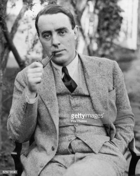 Radio presenter Howard Marshall at his home in Chobham Surrey 28th November 1934 He has been picked to be the BBC commentator during the Royal...