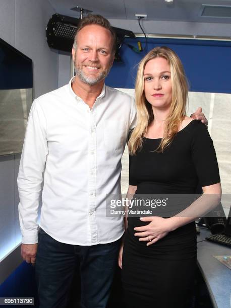 Radio presenter Nick Snaith and actress Julia Stiles speaks to Magic Radio to promote her new Sky Atlantic TV series Riviera at Magic FM Studio on...