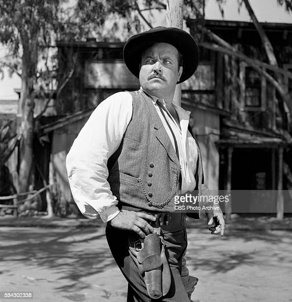 Radio program Gunsmoke featuring William Conrad Image dated February 1 1955 Los Angeles CA