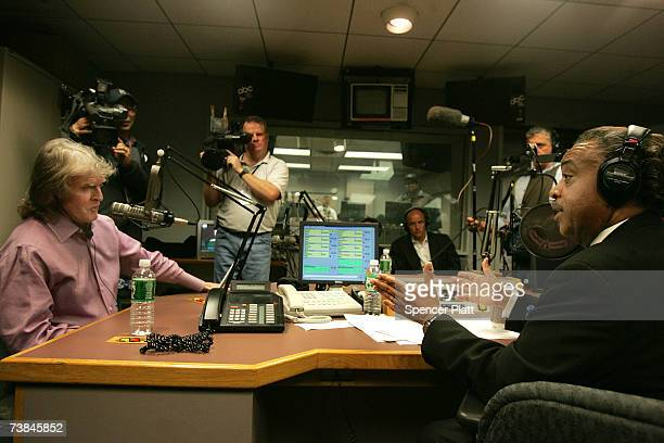 Radio show host Don Imus talks with the Rev Al Sharpton on Sharptons radio show over complaints Imus made racially charged comments in a recent...