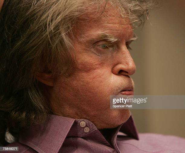 Radio show host Don Imus waits for the Rev Al Sharpton's radio show to begin where Imus talked about complaints that he made racially charged...