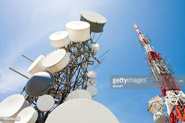 radio station and telecommunication tower