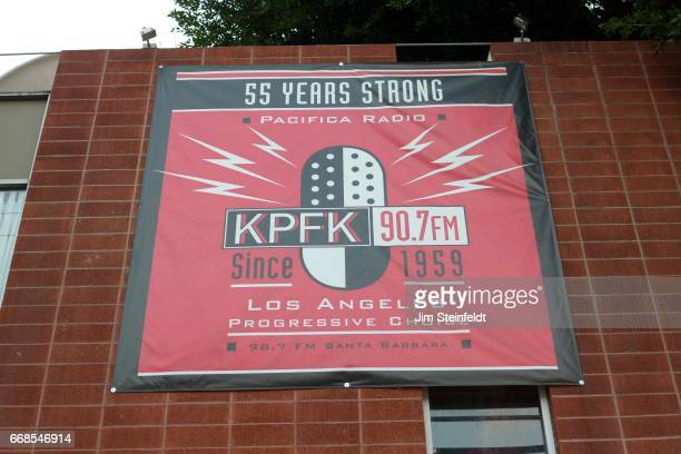 Radio station KPFK in Los Angeles California on March 26 2017