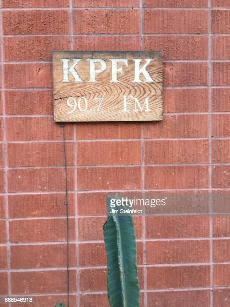 Radio station KPFK in Los Angeles California on March 26 2017