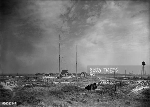 A radio station on Fire Island New York State circa 1920