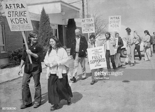 Radio Station Picketed Members of Denver Area Labor Federation and American Federation of Television and Radio Artists picket Denver Radio Station...