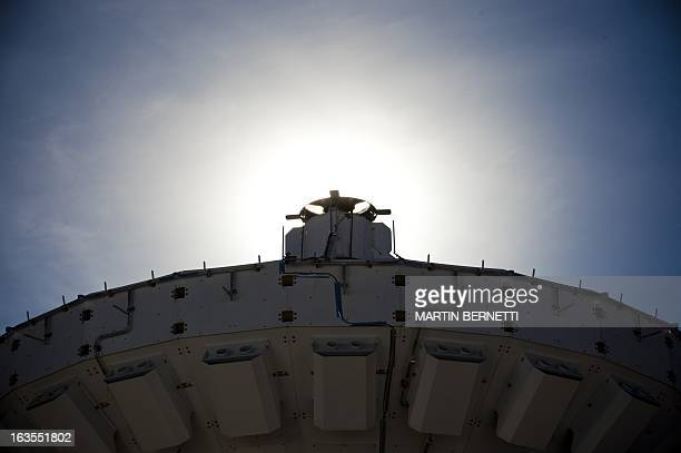 A radio telescope antenna of the ALMA project in the Atacama desert some 1500 km north of Santiago on March 122013 The ALMA an international...