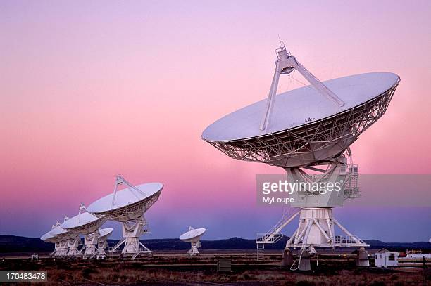 VLA Radio telescope Dishes The Very Large Array one of the world's premier astronomical radio observatories consists of 27 radio antennas in a...