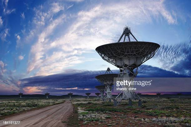 XL radio telescopes twilight