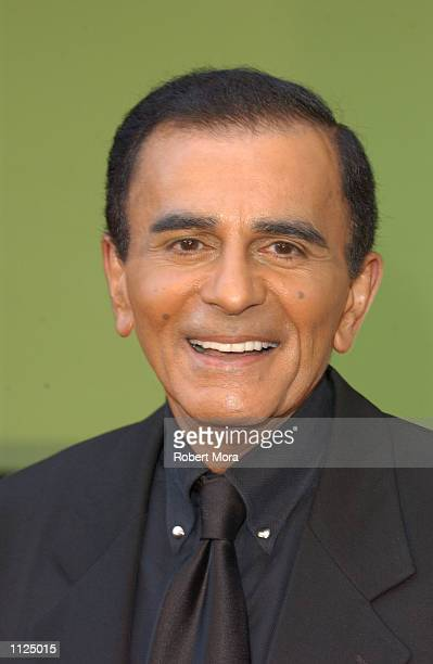 Radio television personality Casey Kasem attends the WB Network's 2002 Summer Party at the Renaissance Hollywood Hotel on July 13 2002 in Hollywood...