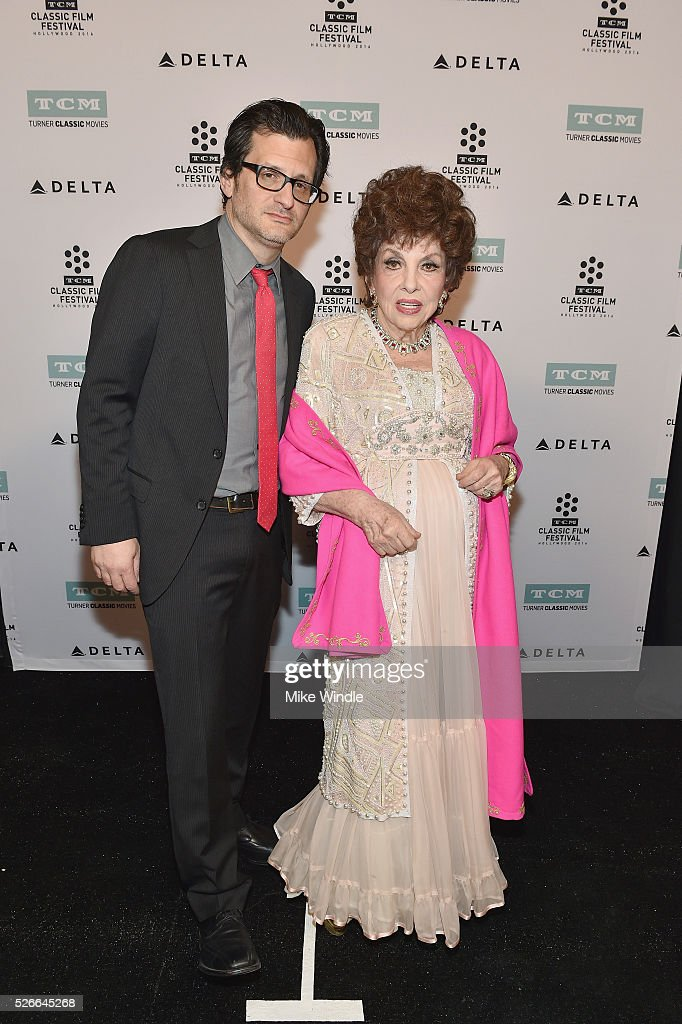 Radio & TV personality Ben Mankiewicz (L) and actress Gina Lollobrigida attend 'Buona Sera, Mrs. Campbell' screening during day 3 of the TCM Classic Film Festival 2016 on April 30, 2016 in Los Angeles, California. 25826_008