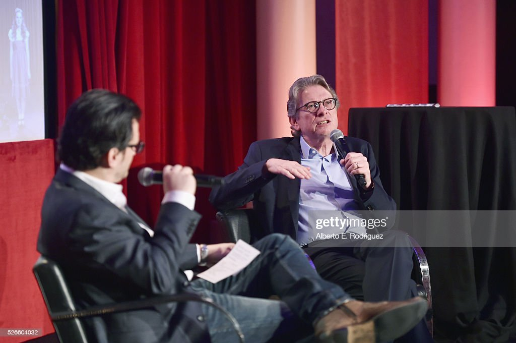 Radio & TV personality <a gi-track='captionPersonalityLinkClicked' href=/galleries/search?phrase=Ben+Mankiewicz&family=editorial&specificpeople=678440 ng-click='$event.stopPropagation()'>Ben Mankiewicz</a> (L) and Director of the Academy Museum of Motion Pictures Kerry Brougher speak onstage at the Delta Passholder Breakfast during day 3 of the TCM Classic Film Festival 2016 on April 30, 2016 in Los Angeles, California. 25826_006