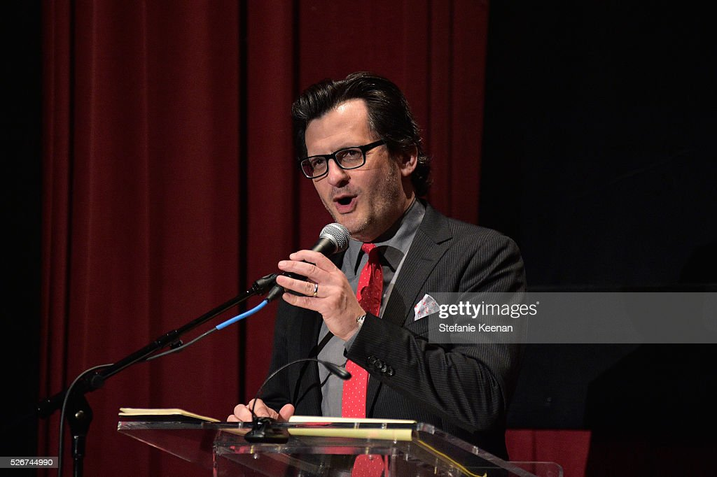 Radio & TV personality Ben Mankiewicz speaks onstage at 'Band of Outsiders' screening during day 3 of the TCM Classic Film Festival 2016 on April 30, 2016 in Los Angeles, California. 25826_005