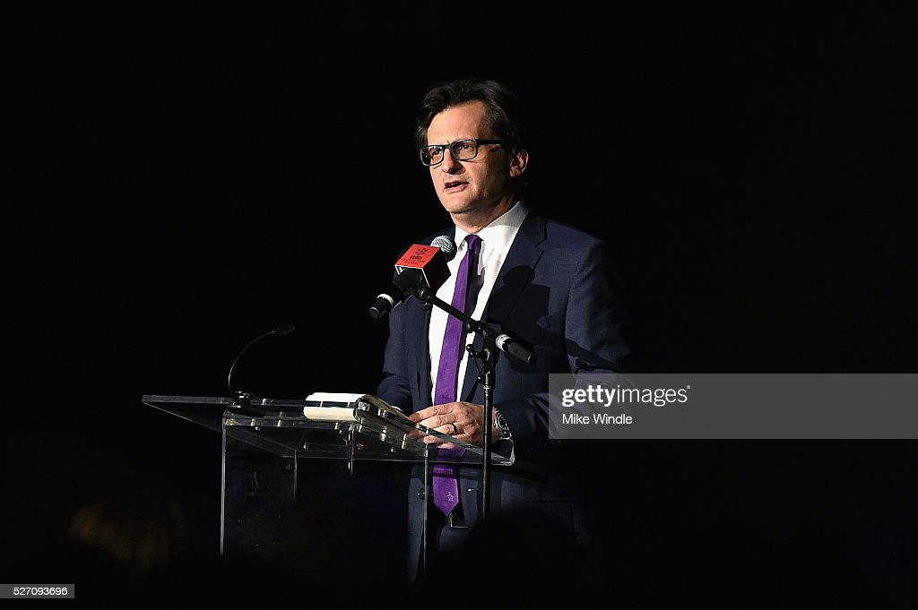 Radio & TV personality <a gi-track='captionPersonalityLinkClicked' href=/galleries/search?phrase=Ben+Mankiewicz&family=editorial&specificpeople=678440 ng-click='$event.stopPropagation()'>Ben Mankiewicz</a> speaks onstage at 'Network' screening during day 4 of the TCM Classic Film Festival 2016 on May 1, 2016 in Los Angeles, California. 25826_008