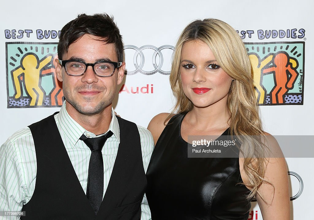 Radio / TV Personality Kevin Manno (L) and TV Personality Ali Fedotowsky (R) attend the Best Buddies celebrity poker charity event at Audi Beverly Hills on August 22, 2013 in Beverly Hills, California.