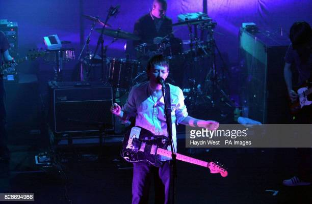 Radiohead frontman Thom Yorke during the bands gig at the Olympia Theatre Dublin Republic of Ireland Coldplay Blur and Radiohead albums have made it...